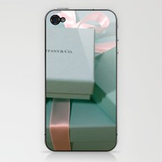 Pile of Boxes Tiffany Blue Style iPhone & iPod Skin