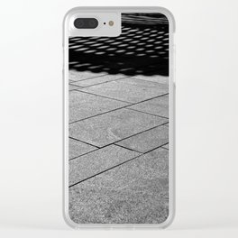 Abstract Black and White-The Bandshell Clear iPhone Case