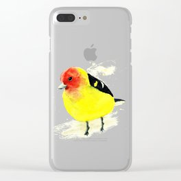 Western tanager Clear iPhone Case