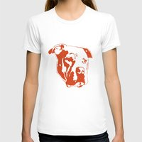 pitbull T-shirts featuring COACH - ORANGE by Kirk Scott