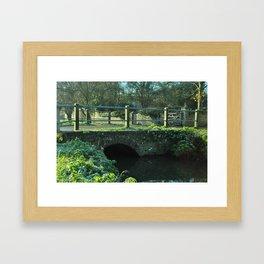 Crossing the bridge Framed Art Print
