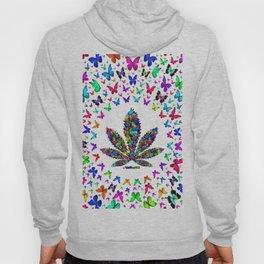 Butterflies Cannabis Leaf 3 Hoody