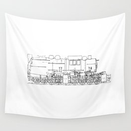 Sketchy train art Wall Tapestry
