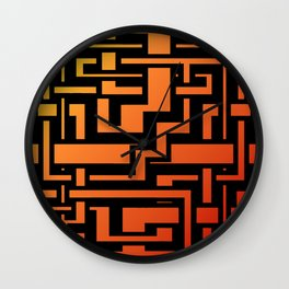 Abstract Incandescent Labirint Wall Clock