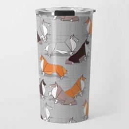 Origami Collie doggie friends Travel Mug