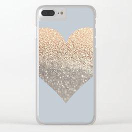 GATSBY GOLD HEART GREY II November Skies Clear iPhone Case
