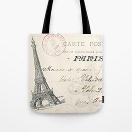 I Love Paris Postcard Tote Bag
