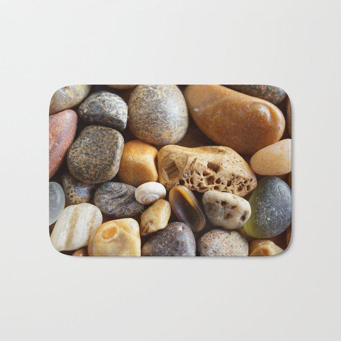Pebbles on a Beach Bath Mat