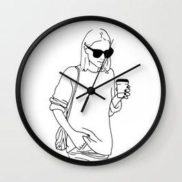 Woman with Coffee Wall Clock