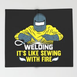 Welding: It's like Sewing with Fire Throw Blanket