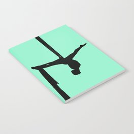 Aerial Silk Silhouette on Mint Notebook