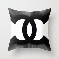 B&W Fashion C Throw Pillow