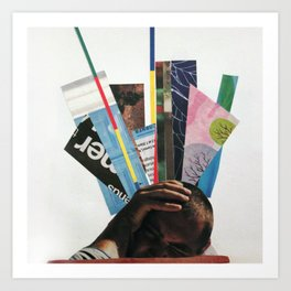 Headache Collage Art Print