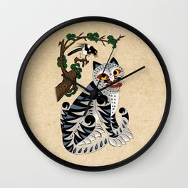 Minhwa: Tiger and Magpie B Type Wall Clock