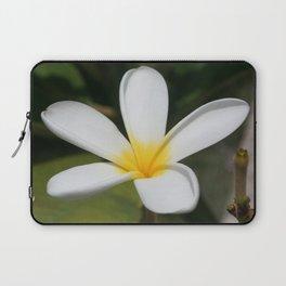 A Single Plumeria Flower Macro  Laptop Sleeve