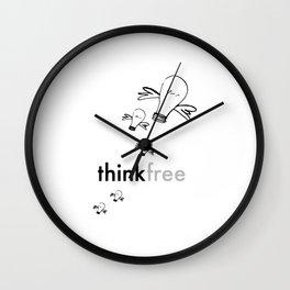 Think Free Wall Clock