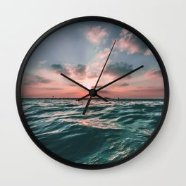 Deep Green Float Wall Clock