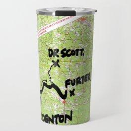 Map of Denton, USA Travel Mug