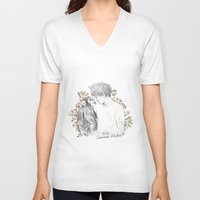coconutwishes V-neck T-shirts featuring Louis and the chimp by Coconut Wishes