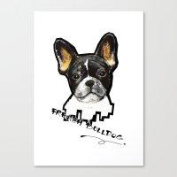 french bulldog Canvas Prints featuring French Bulldog by Det Tidkun