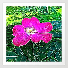Magenta Flower of Harmony Art Print