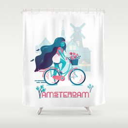 Cycling tulip of Amsterdam Shower Curtain