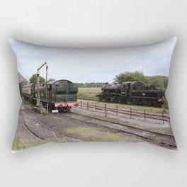 Manipulated Steam Train Image Rectangular Pillow