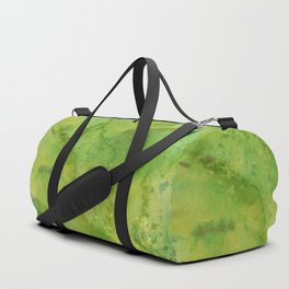 Watercolor lime green abstract hand painted pattern Duffle Bag