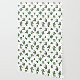 Houseplants Illustration (white background) Wallpaper