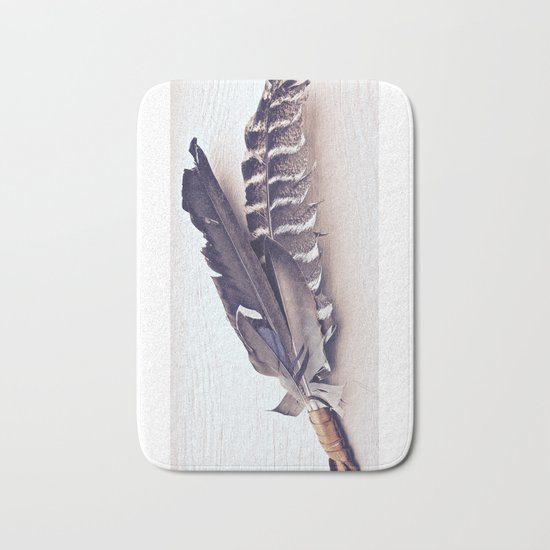 Sacred Smudging, Feather Fan Bath Mat