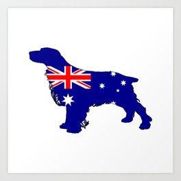 Australian Flag - Spaniel Art Print