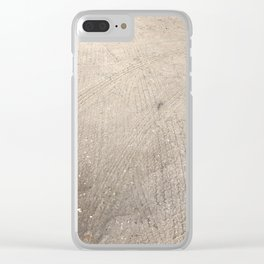 Tracks on dirt road Clear iPhone Case