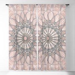 Peach Geometric Flower Boho Design - c13054.2 Sheer Curtain