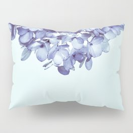 Floral fringe - french blue Pillow Sham