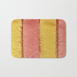 Yellow Peach Colored Bubble Gum Bath Mat