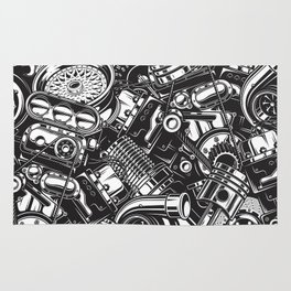 Automobile car parts pattern Rug