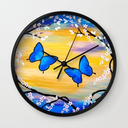 Happy with You Wall Clock
