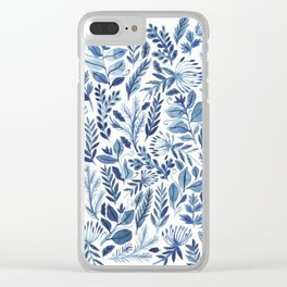 indigo scatter Clear iPhone Case