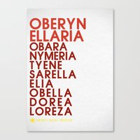 martell Canvas Prints featuring Oberyn Martell Typography series II by P3RF3KT