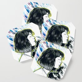 Girl Profil Drawing Coaster