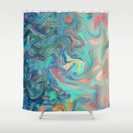 Clouds On A Far Away Planet Shower Curtain