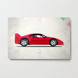 The F40 Berlinetta Metal Print
