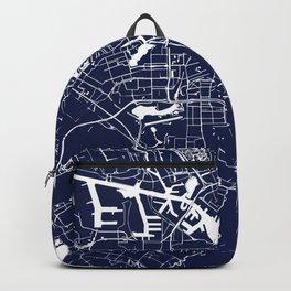 Amsterdam Navy Blue on White Street Map Backpack