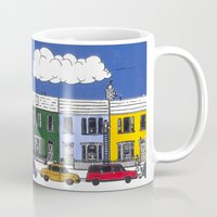 marc johns Mugs featuring St Johns Terrace, Lewes by Richard Ellis