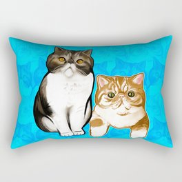 Puffy and Caesar  Rectangular Pillow