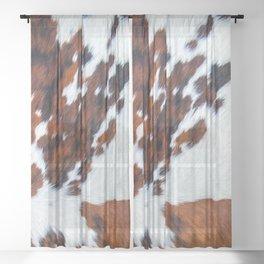 Rustic cow faux fur, cowhide Sheer Curtain