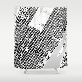 New York building city map Shower Curtain