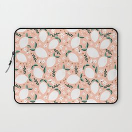 Summer Lemons on Pink Laptop Sleeve