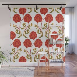 Orchid Pattern Wall Mural