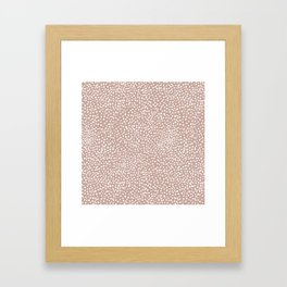 Little wild cheetah spots animal print neutral home trend warm dusty rose coral Framed Art Print